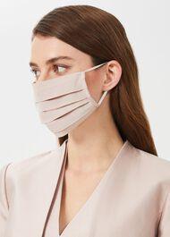 Non-Medical Silk Blend Face Mask, Oyster, hi-res