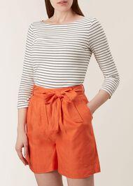 Vic Linen Shorts, Mango Orange, hi-res