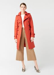 Saskia Trench Coat, Burnt Orange, hi-res