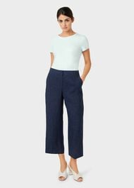 Cynthia Linen trousers, Navy, hi-res