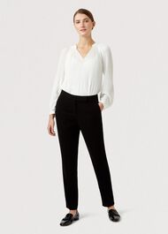 Alva Silm Trouser, Black, hi-res
