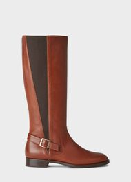 Nicole Buckle Boot, Tan, hi-res