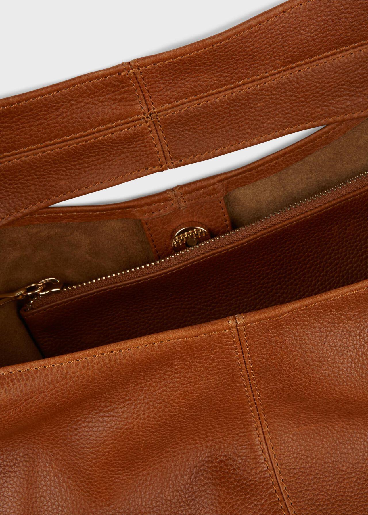 Lula Leather Hobo Bag, Tan, hi-res