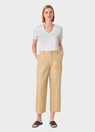 Charlotte Cotton T-Shirt, White, hi-res