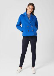 Rosanna Wool Blend Coat, Royal Blue, hi-res