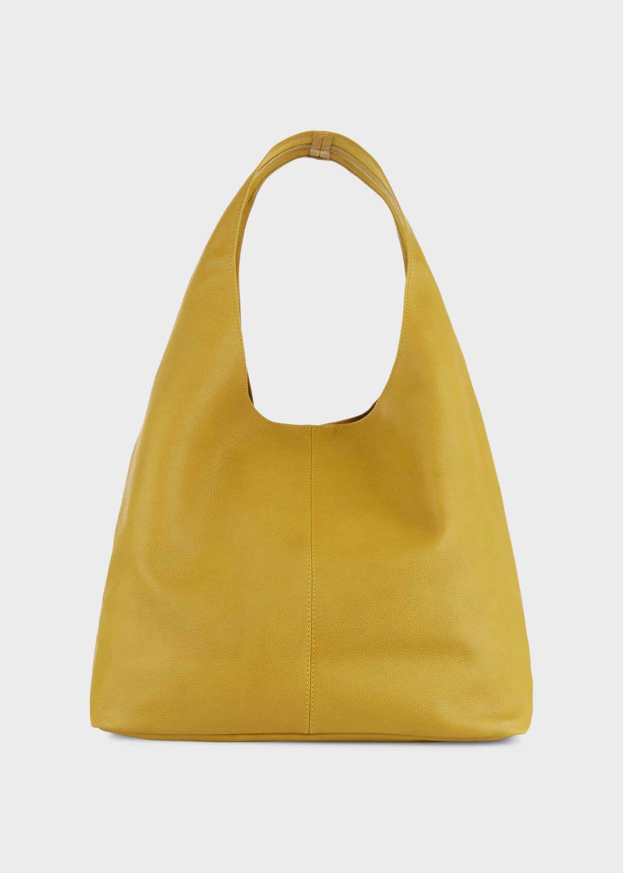 Lula Leather Hobo Bag, Citron, hi-res