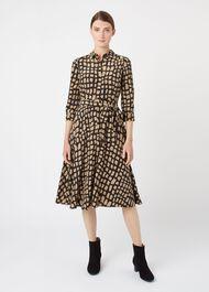 Lainey Dress, Black Camel, hi-res