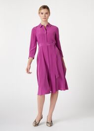 Silk Lainey Dress, Deep Orchid, hi-res