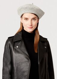 Grace Beret, Grey Marl, hi-res
