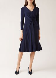 Araminta Dress, Navy, hi-res