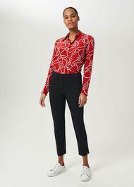 Petite Annie Slim Trousers With Stretch, Black, hi-res