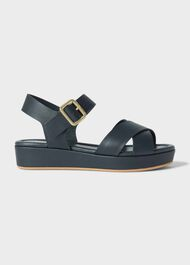 Hattie Sandal, Navy, hi-res