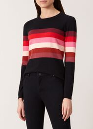 Steph Wool Blend Sweater, Black Multi, hi-res
