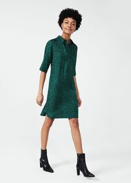 Marciella Spot Tunic Dress, Green, hi-res