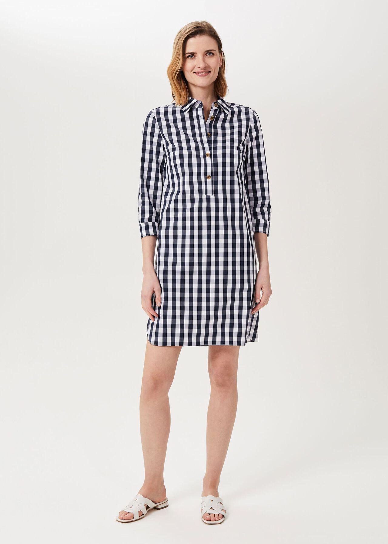 Marciella Tunic Dress, Navy White, hi-res