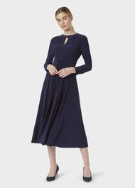 Suri Jersey Fit And Flare Dress, Midnight, hi-res