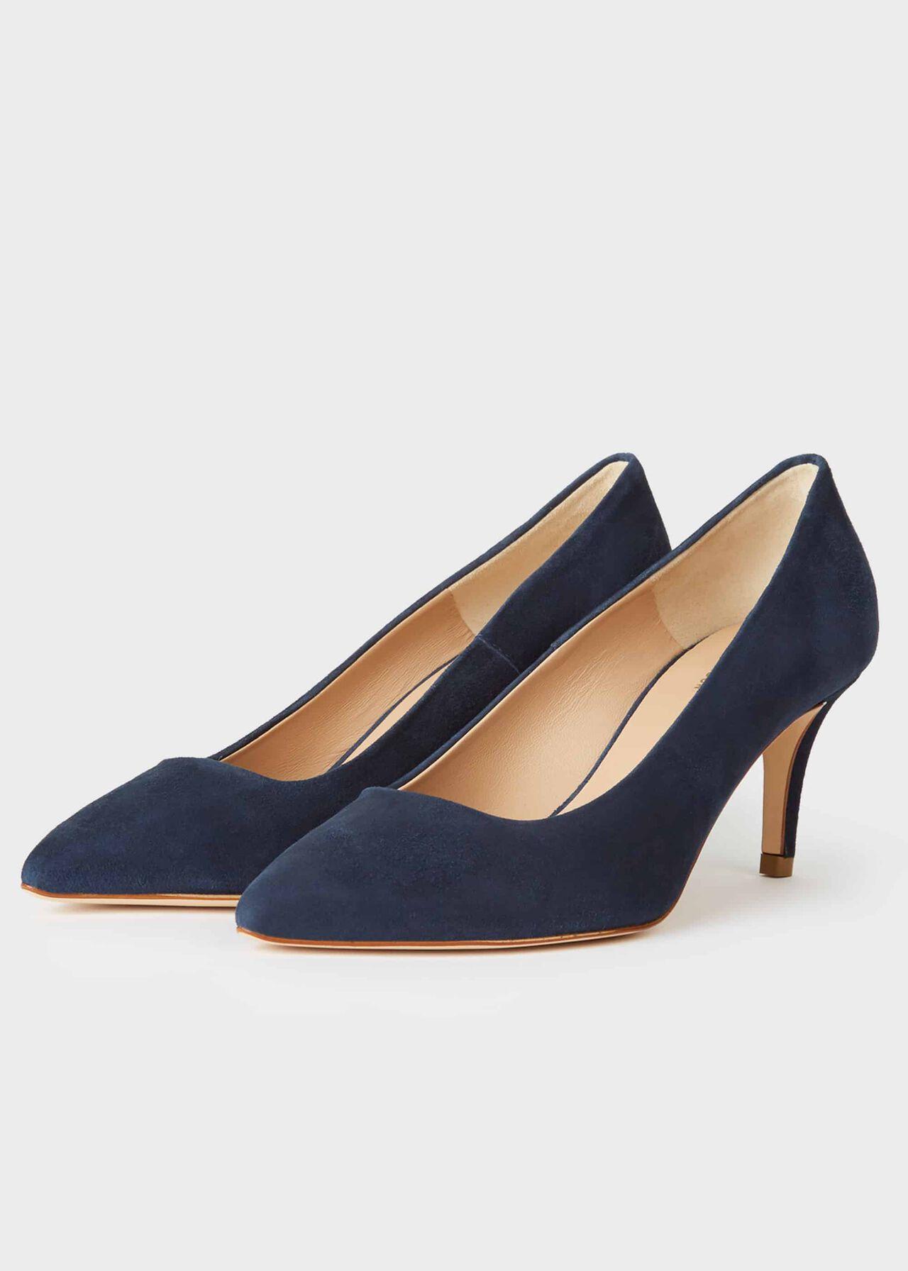 Elouise Suede Stiletto Court Shoes Midnight