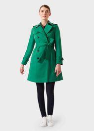 Petite Saskia Trench Coat, Green, hi-res