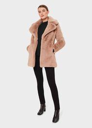 Bethany Faux Fur Coat, Neutral, hi-res