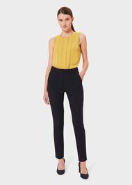 Leila Slim trousers, Navy, hi-res