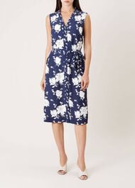 Kimberley Dress, Navy Ivory, hi-res