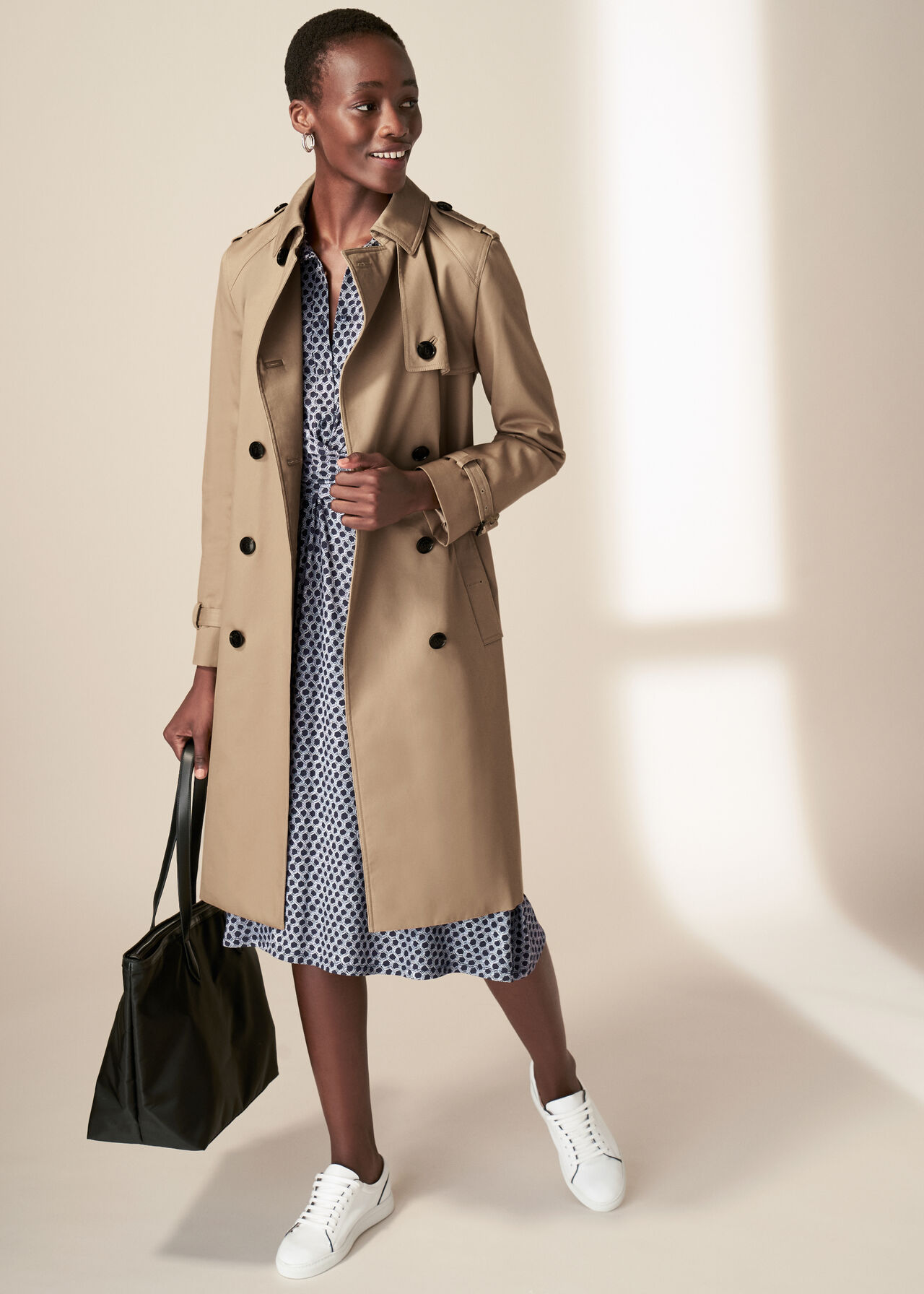 The Tan Saskia Trench Coat Outfit, , hi-res