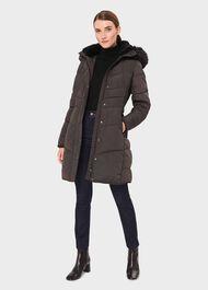 Lettie Puffer Jacket, Dark Charcoal, hi-res