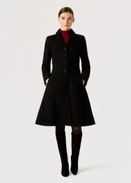 Milly Wool Blend Coat, Black, hi-res
