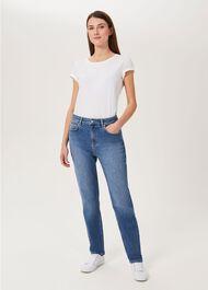 Marla Straight Jeans, Light Wash, hi-res