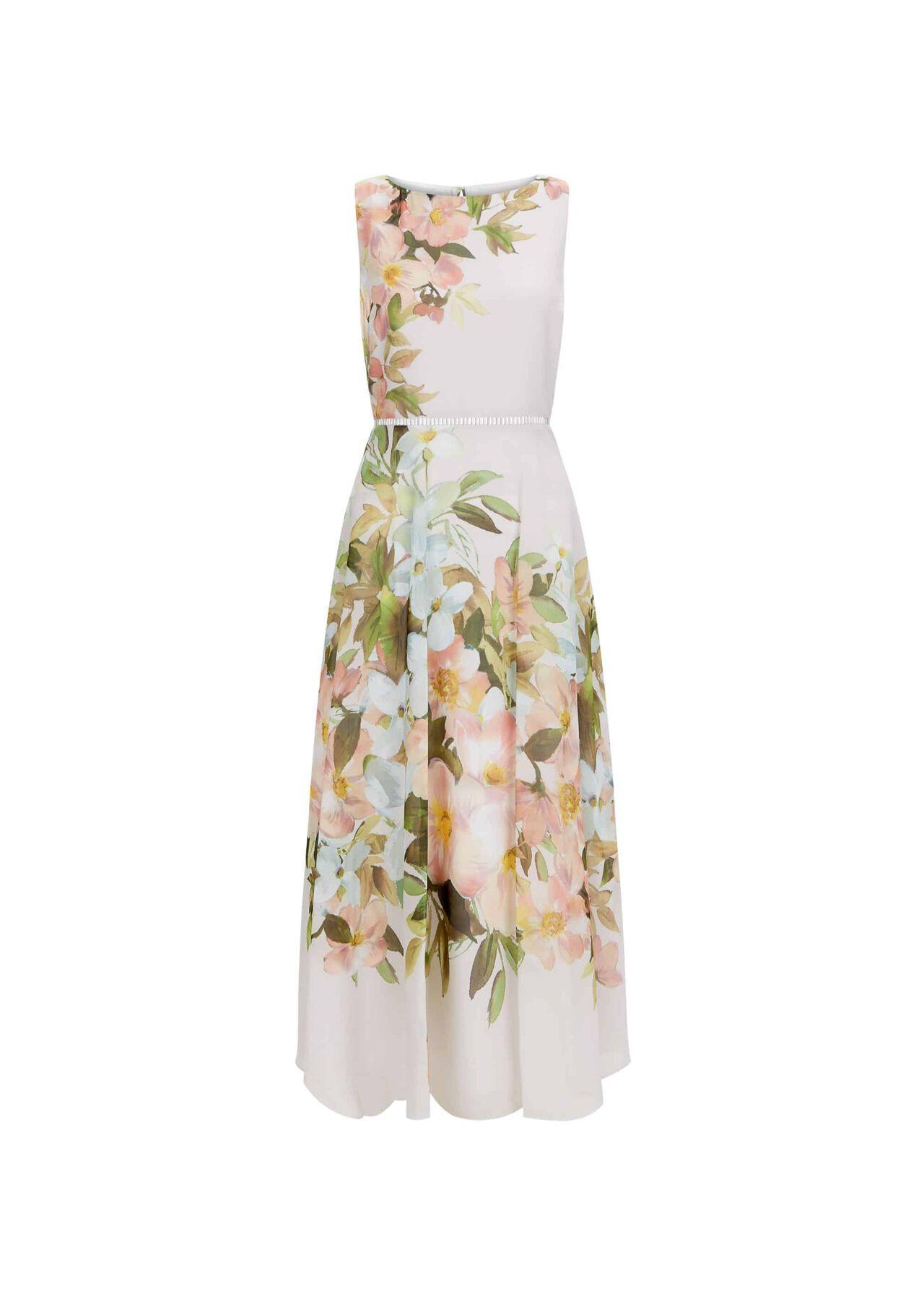 Carly Dress Silver Multi