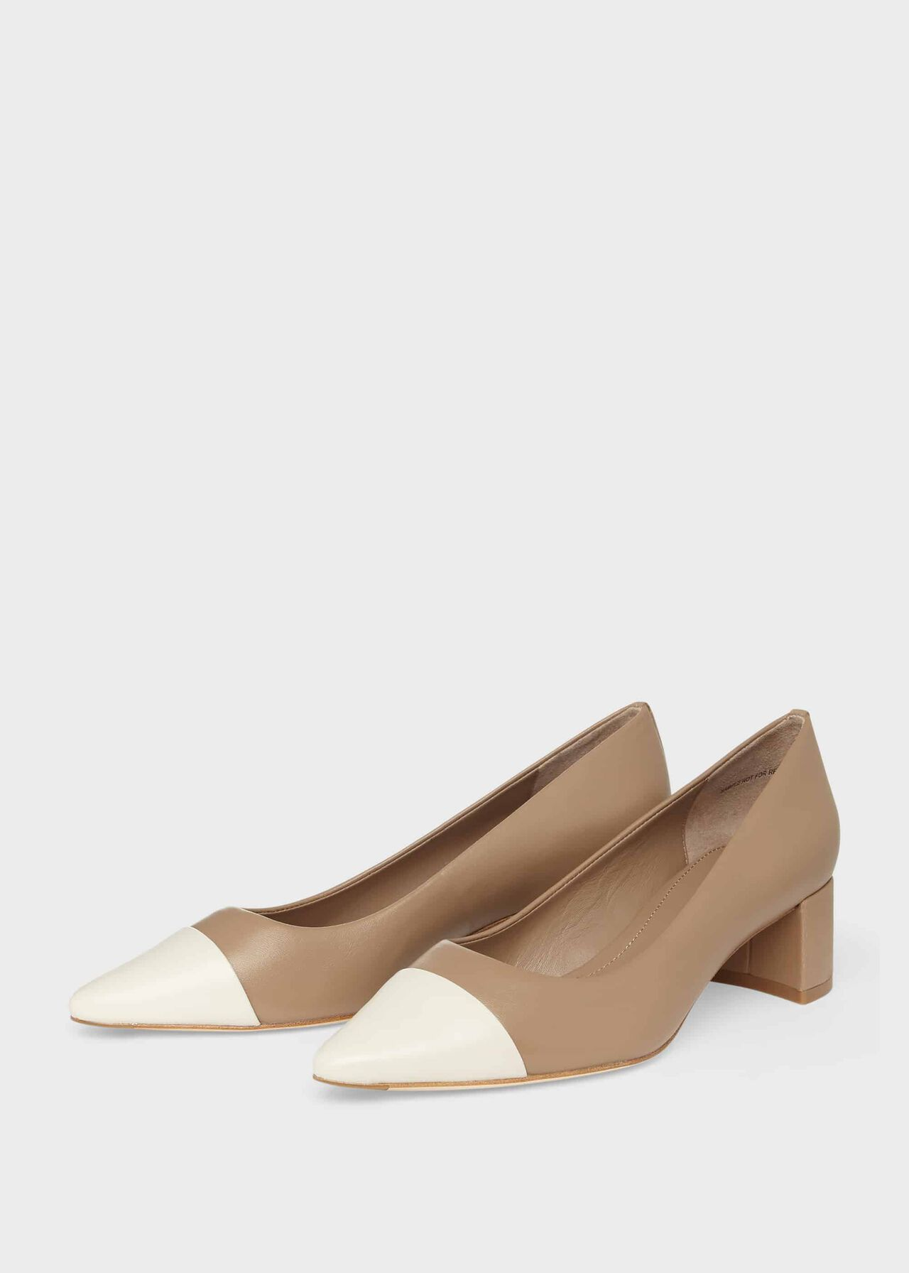 Natalie Leather Court Shoes Fawn
