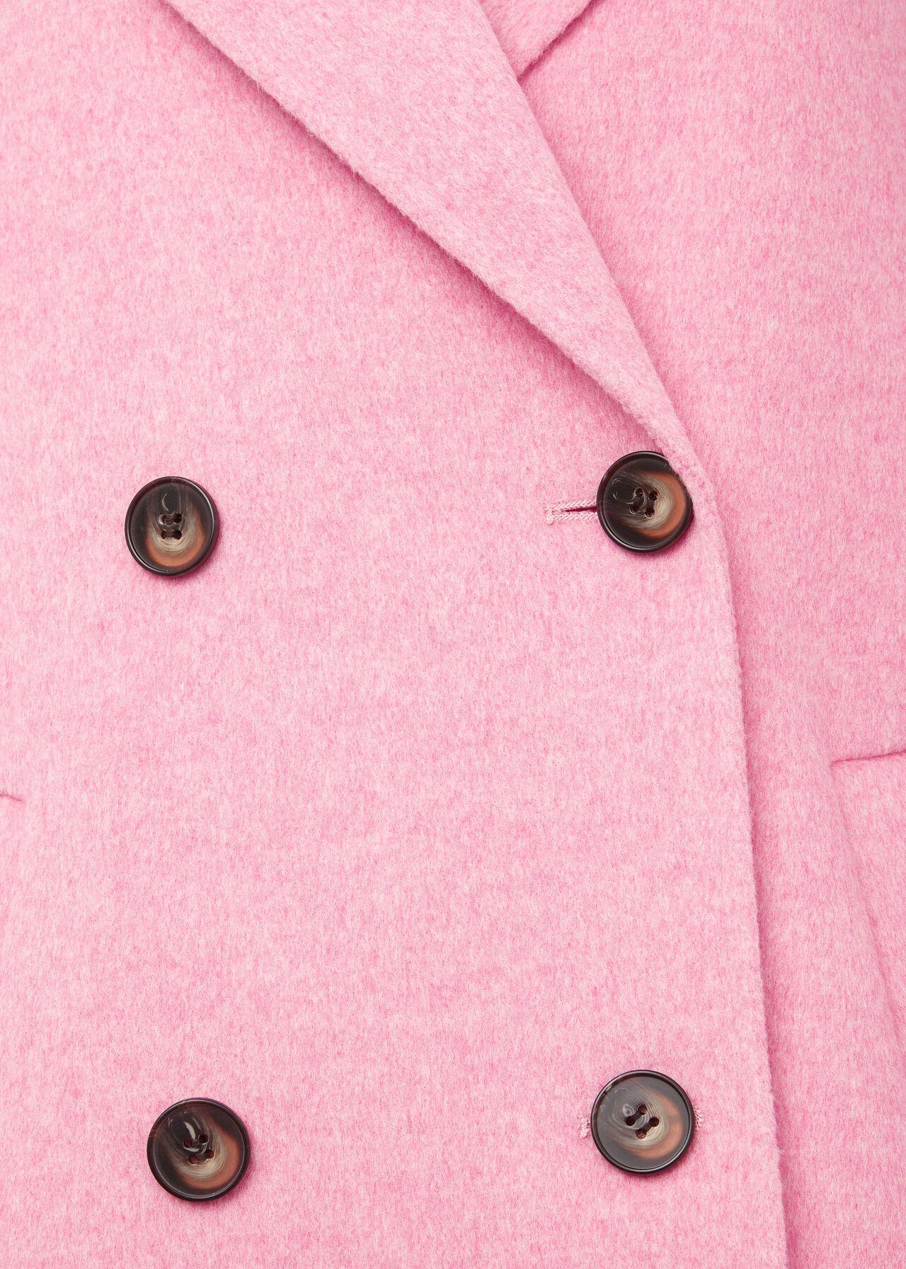 Sylvie Wool Blend Double Face Coat, Pink Marl, hi-res