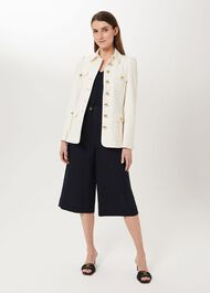Maddy Wool Blend Military Jacket, Ivory, hi-res