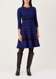 Joelle Dress, Cobalt Black, hi-res