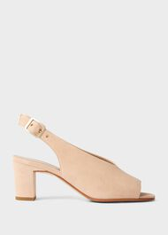 Kali Suede Block Heel Sandals, Blush, hi-res