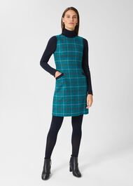 Amaris Aline Wool Dress, Green Multi, hi-res