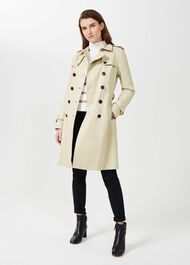 Saskia Water Resistant Trench Coat, New Neutral, hi-res