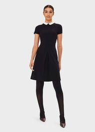 Adele Jersey Dress, Navy Ivory, hi-res