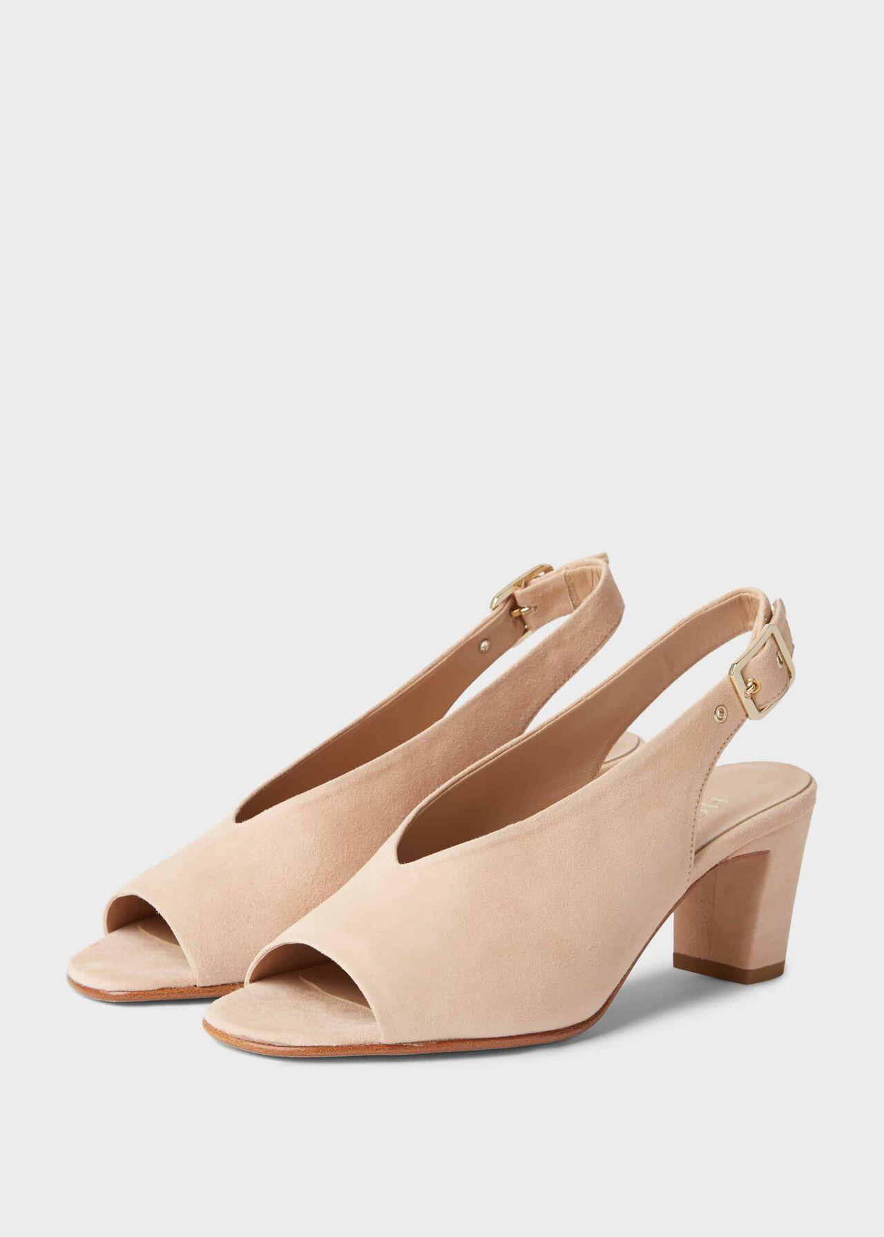 Kali Suede Block Heel Sandals Blush