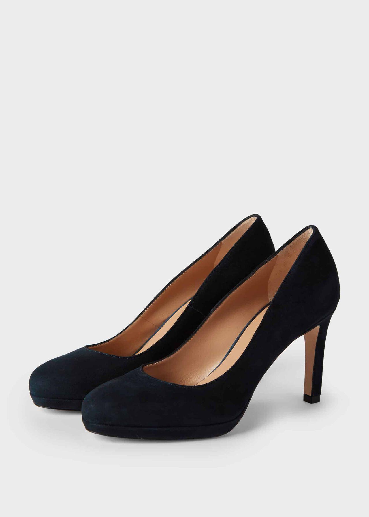 Julietta Suede Stiletto Court Shoes Navy