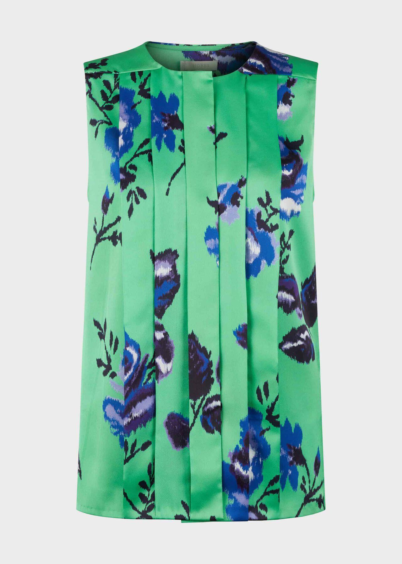 Miriam Floral Blouse Green Blue