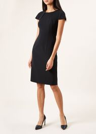 Cap Sleeve Lynsey Dress, Navy, hi-res