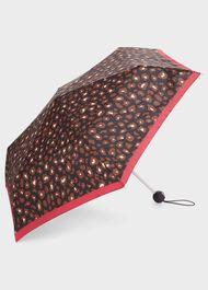 Leopard Umbrella, Navy Raspberry, hi-res