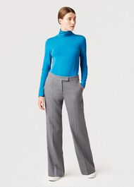 Mischa Roll Neck, Kingfisher Blue, hi-res