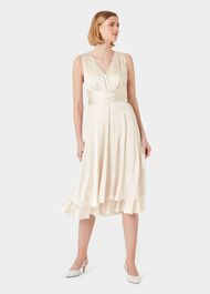 Viola V Neck Dress, Blush, hi-res