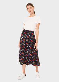 Annette Floral Midi Skirt, Midnight Multi, hi-res