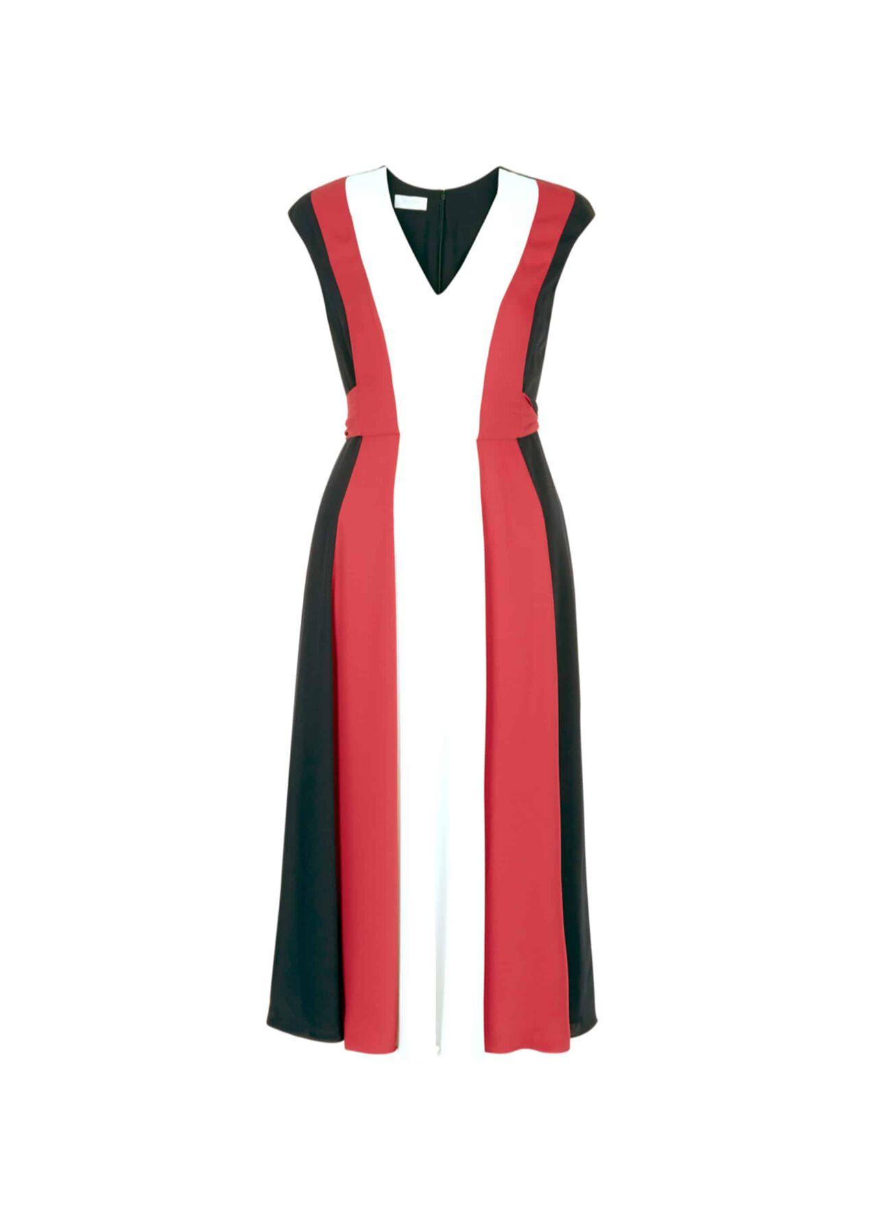 Bailly Dress Navy Ivory Pink