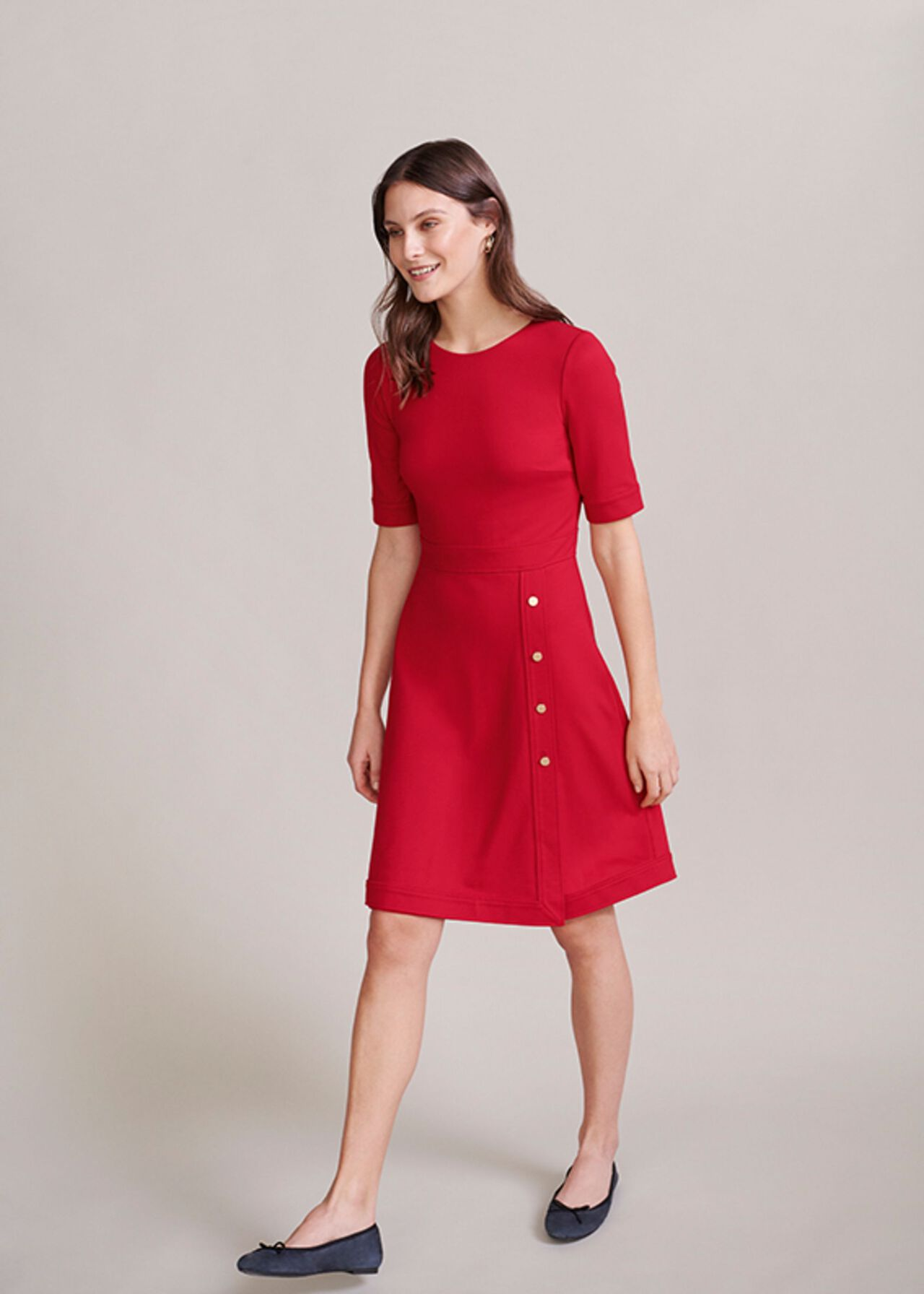 The Red Anela Dress Outfit, , hi-res
