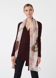 Thao Silk Scarf, Pink Green, hi-res