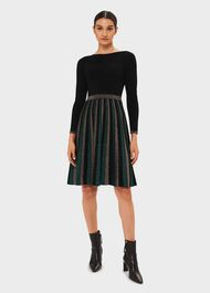 Adrianna Knitted Dress, Black Multi, hi-res